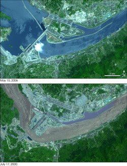 Three gorges dam - NASA